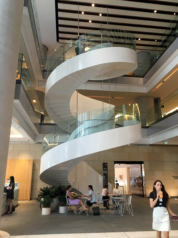 Stunning Curved Glass Stair At Barangaroo Tower Selector
