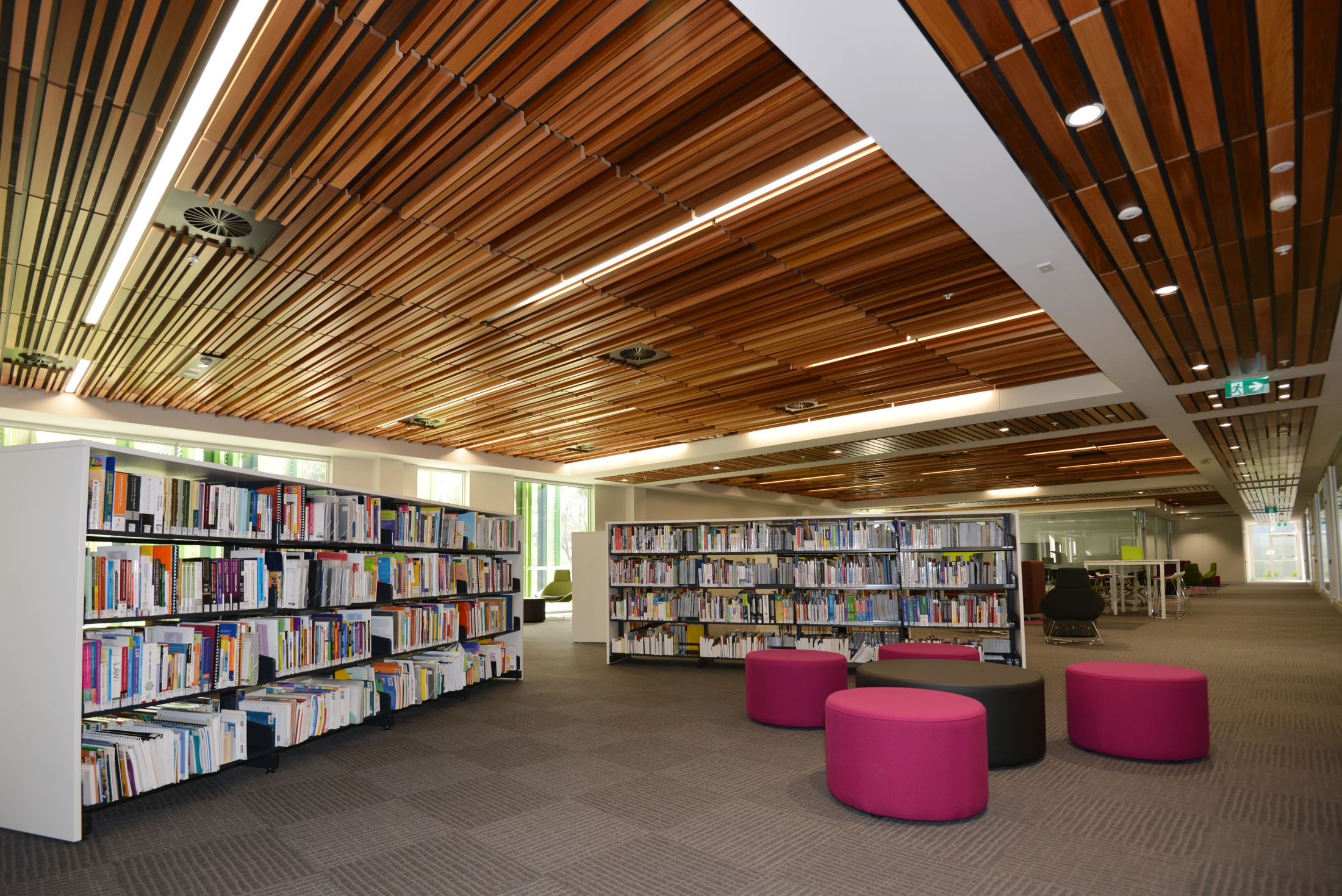 Feature Timber Ceiling Solves Acoustics Access And