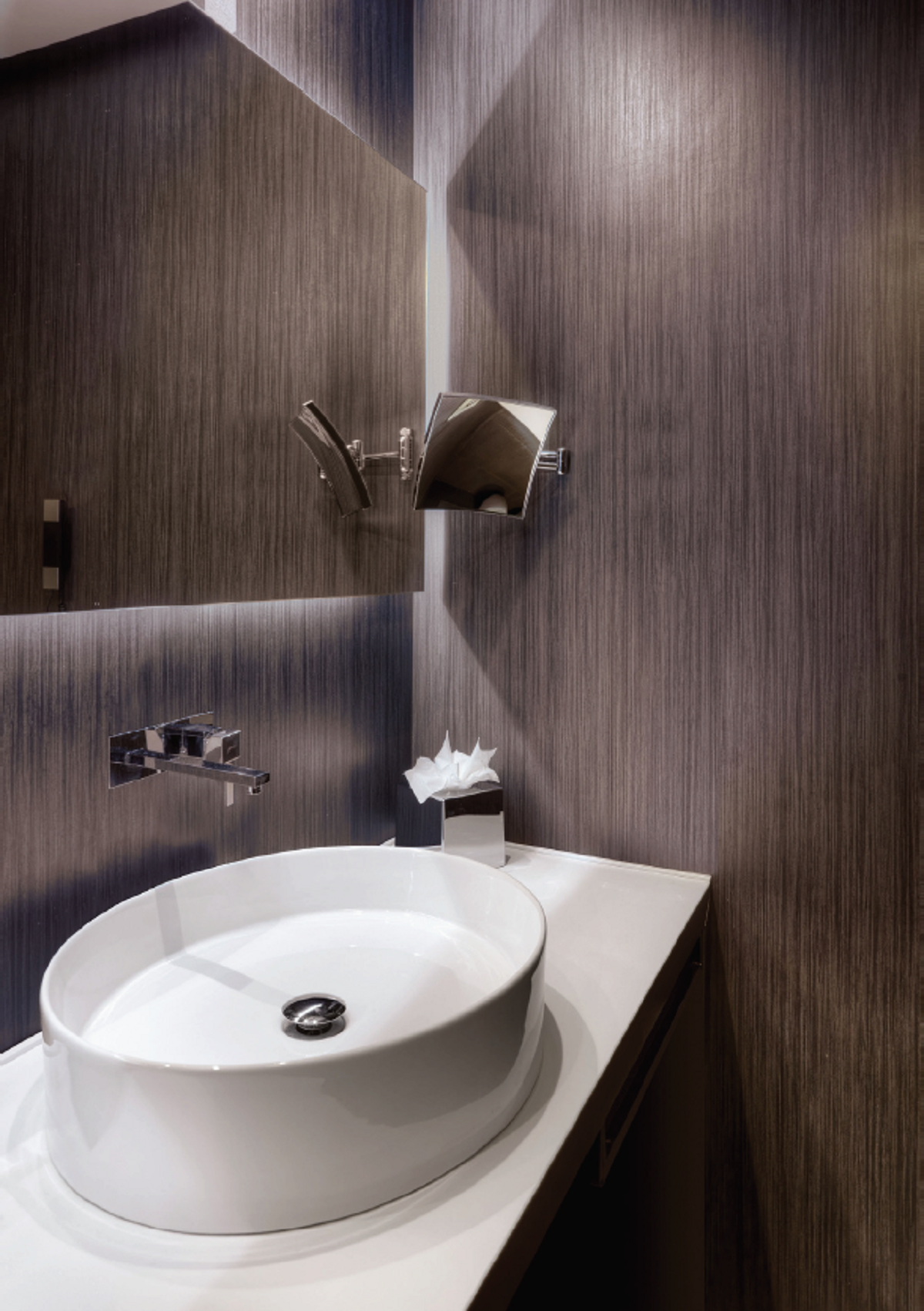 Lighting Basement Washroom Stairs: Reduced Thickness Porcelain Tile System By LATICRETE