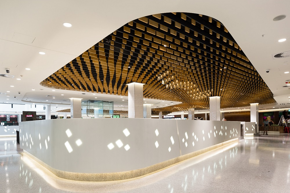 Corian Features In Cox Architecture Canberra Shopping