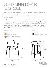 3D Chair and stool