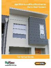MaxiWall Low-Rise Residential Party Wall Technical Guide