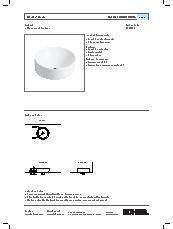 Chalice vessel basin specification sheet