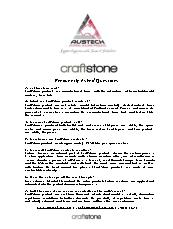 CraftStone Frequently Asked Questions