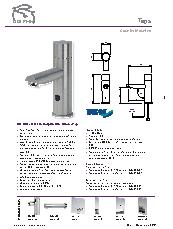 DB100 and DB125 Dolphin Blue infrared tap brochure