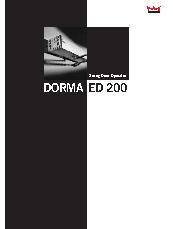 DORMA Automatics ED200 swing door brochure