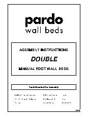 Double Manual Foot Wall Bed Instructions