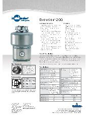 Evolution® 200 food waste disposer specification sheet