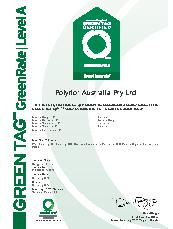 Expona Control Greentag certificate
