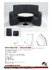 Fletcher Systems Realm single side modular seating brochure