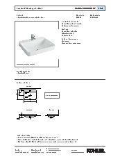 Forefront rectangular basin specification sheet