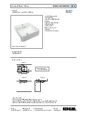 Forefront semi recessed basin specification sheet