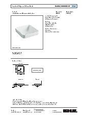 Forefront square countertop basin specification sheet