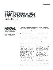 Gesture chair beta site case study