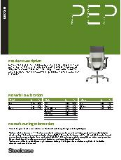 Gesture chair Environmental profile