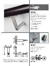 HB 510 stair rail bracket and HB 512 glass fixing kit brochure