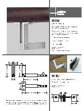 HB 550 stair rail bracket and HB 552 glass fixing kit brochure