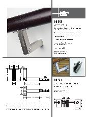 HB 555 Stair rail bracket and HB 544 glass fixing kit brochure