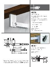 HB 570 stair rail bracket and HB 542 glass fixing kit brochrue