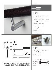 HB520 stair rail bracket brochure HB 522 glass fixing kit brochrue