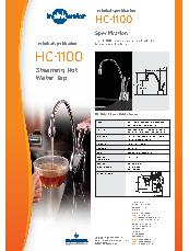 HC1100 Hot and cold water tap's data sheet