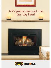 Heat & Glo AT-Supreme balanced flue gas log insert brochure