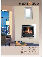Heat & Glo SL-350 balanced flue gas log fire brochure