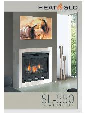 Heat & Glo SL-550 balanced flue gas log fire brochure