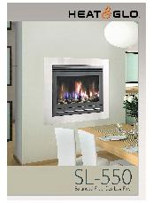 Heat & Glo SL-550 (pebbles) balanced flue gas log fire brochure