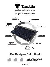 Solar Roof Tiles Eclipse By Tractile Selector