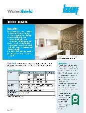 Knauf  WaterShield Technical Data Sheet