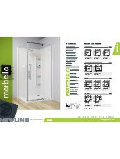 Marbella acrylic shower brochure.