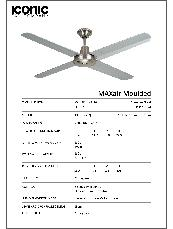 MAXair Moulded Specification Sheet