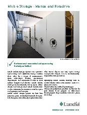 Mechanically assisted mobile shelving system brochure