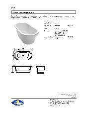 Milano freestanding bath specification sheet
