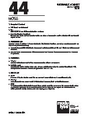 Moss Sustainable Datasheet