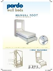 Pardo manual foot wall bed