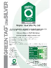 Polysafe Wood FX Acoustic Greentag certificate