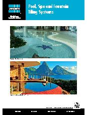 Pool, Spa and Fountain Tiling Systems Brochure