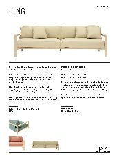 Ling Sofa Product Information Sheet