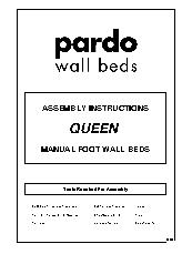 Queen Manual Foot Wall Bed Instructions