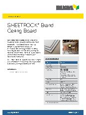 Sheetrock® Brand Ceiling Board Brochure