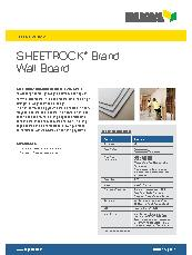 Sheetrock® Brand Wall Board Brochure