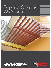 Aluminium Screens With Wood Grain Finish By Superior
