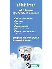 Think Fresh With Resene Zylone Sheen VOC Free
