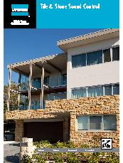 Tile and Stone Sound Control System Brochure