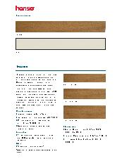 Timber Slats  Specification Sheet