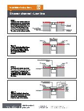 Veitch lowline shower channel installation instructions