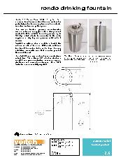 Veitch Rondo drinking fountain product information sheet
