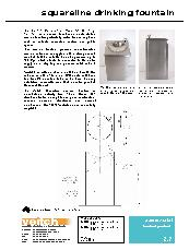 Veitch Squareline drinking fountain product information sheet